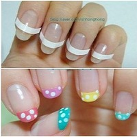 Nail art supplies toiletry kit nail polish oil french stickers v line nail art accessories