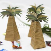 Free Shipping 100pcs Lovely Coconut Trees Favor Box/Wedding Favor Box/Candy Box/Garden Supplies