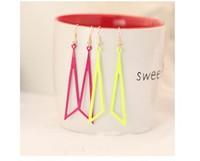 Europe and America tide products triangle geometric earrings pierced earrings earrings nightclub exaggerated C163