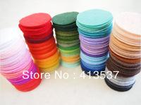 Free Shipping 4cm Felt Circle Pads WHOLESALE,1000pcs/color/lot