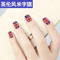 Finger sticker british style flag torx full polish nail art series