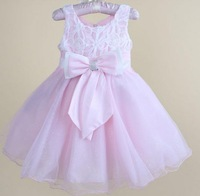 Free shipping 2013 New Style Fashion Children princess dress Wedding dress Flower girl dresses pink dress for girl 6 pcs/lot