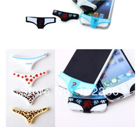 Smart Man Girl Style Pants Panties Undies Underwear Home Button Protector for iPhone 4 4S 5 5S