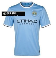 High-quality 13 - 14, short-sleeved jersey soccer jerseys separate blue and Free Shipping