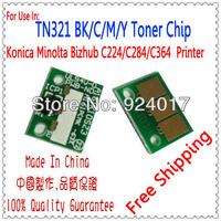 Toner Reset Chip For Konica Minolta Bizhub C224 C284 C364 Photocopier,For Konica Minolta TN321 C 224 Toner Chip,Free Shipping