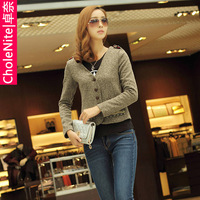 Free Shipping Womens  women's autumn and winter 2013 women's blazer outerwear long-sleeve cardigan