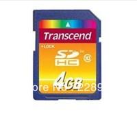 100% Original   Transcend  SDHC Class10 4G memory card   Free Shipping