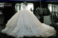 Wholesale - Custom Ivory Satin&voile Wedding Dress 6-8-10-12-14-16+