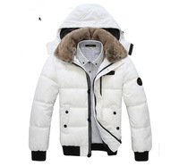 2013 New collection Mens coat Winter overcoat Outwear Winter jacket wholesale fashion clothes Fur collar Free shipping MDY001