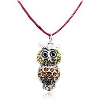 Accessories small necklace owl necklace simple 2602 - necklace