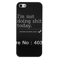 Bad Temper Day Pattern PC Hard Case Cover for iPhone 5/5S