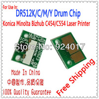 Use For Konica Minolta Bizhub C454 C554 Drum Unit Chip,For Konica Minolta DR512 C 454 554 Drum Chip,K&M 454 Drum,Free Shipping
