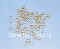 Stainless Steel 304 GOLD Connector, Connected Rings 11mm 1 & 1/3 circle 0.55mm wire, material for Crystal Strand, free shipping