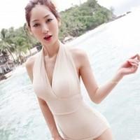 2013 new swimwear female push up racerback one piece plus size swimwear M L XL beachwear