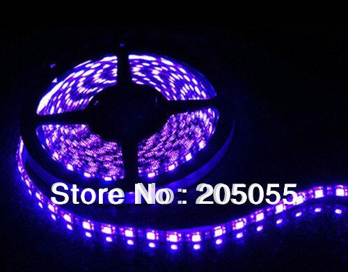 16ft 5M UV 395nm 3528 SMD ultraviolet Purple 300 LED Flexible Strip Light 60leds/Meter Non-Waterproof 12V(China (Mainland))