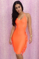 2013 winter fashion design new listing nightclub sexy woman nightclub hollow green and orange dress have stocking on sale