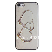Heart to Heart Pattern PC Hard Case with Interior Matte Protection Cover for iPhone 5/5S
