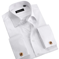 Slanting stripe brief white french cufflinks shirt male fashion long-sleeve slim spring and autumn