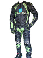 KAWASAKI Latest summer clothing suits racing suits Textile Motorcyle Racing jacket and Pants all Size