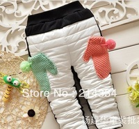 Wholesale free shipping baby new Thick thick winter models down pants pants baby grils leggings  children pants