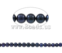 Free shipping!!!Round Cultured Freshwater Pearl Beads,2013 men, natural, black, 9-10mm, Hole:Approx 0.8-1mm