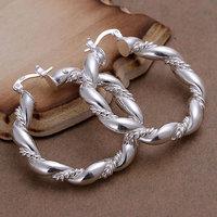 925 silver earrings 925 sterling silver fashion jewelry earrings beautiful earrings high quality Twisted Ring Earrings
