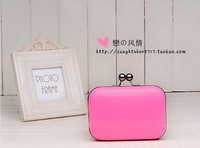 Popular women's handbag candy color mini day clutch evening bag messenger bag