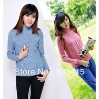 Free shipping  2013 Thicker round neck Retro sweaters Women  Pullover Loose Slim Fit long sleeves Cardigan Sweater