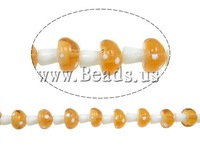 Free shipping!!!Handmade Lampwork Beads,Elegant, mushroom, 19x16x16mm, Hole:Approx 2-3mm, 20PCs/Strand, Sold Per 15 Inch Strand