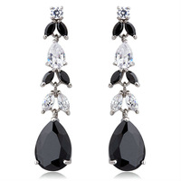 2013 Accessories Water Drop Earrings Made With Swarovski Diamond CZ (000106) Fashion Crystal Weddings Jewelry For Women