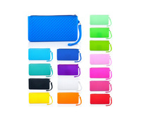 Silion key wallet bank card case wallet long design multifunctional female coin bag fashion mobile phone bag 10pcs/lot