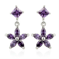 2013 Accessories Flower Earrings Made With Swarovski Diamond CZ (000114) Fashion Crystal Weddings Jewelry For Women