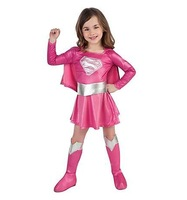 new Cosplay Costume pink superman Costumes for kids Fancy dress Halloween Party decorations supplies children gifts