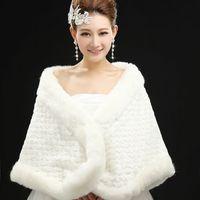 Clothing bride fur shawl cloak wool wrap wedding plus size thick married cape