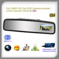 3 inch rearview mirror 1080p full hd car dvr camera event recorder g-sensor