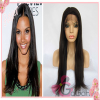 Free Style Queen Hair Products 10''-24'' Straight 1# Jet Black Brazilian Hair Front Lace Wigs High Quality Free Shipping Cheap