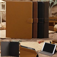 New Arrival Vintage frosted leather case for iPad 5 air Free shipping