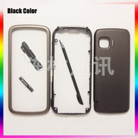 Black Color New 100% Original Full Housing Cover Case + Keypads + pens For Nokia 5230 Free Shipping