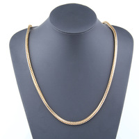 4mm Men's Solid 18K Yellow Gold Plated Franco Chain - Size 36""