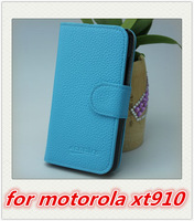 Hot Selling Multifunctional Wallet Bag Leather Case Cover Shell For Motorola XT910  1PCS Free Shipping