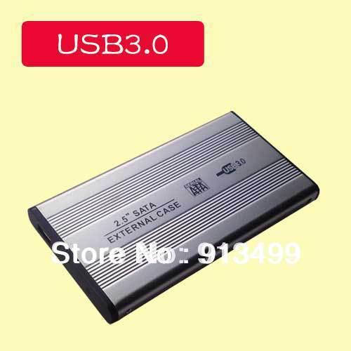 """Big sales 2.5"""" USB 3.0 HDD Case Hard Drive SATA External Enclosure Box support 3TB dropshipping W01(China (Mainland))"""