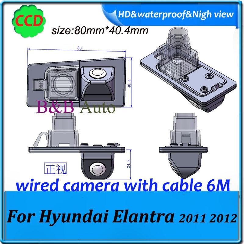 Parking Assistance Reversing System HD CCD Car rear view backup camera For Hyundai Elantra 2011 2012(China (Mainland))