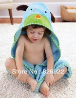 1 pcs Wholesale puppy Baby Bathe Cotton Bathrobes Hooded Bath towel Cute Animal Cartoon Bathrobes Baby wrap blanket