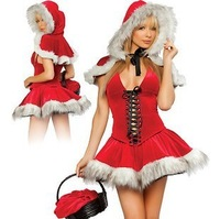 European and American fashion short-sleeved dress Christmas dress Slim package hip sexy dress!