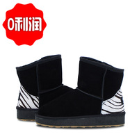 5802 snow boots black snow boots genuine leather snow boots female boots cow muscle outsole
