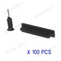 hk free shipping 1000pc/tvc-mall Anti-dust Earphone Plug and Dock Stopper for iPhone 4s 4