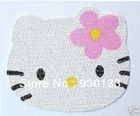 Free shipping  stylish cartoon hello kitty the car slip mat car accessories car with non-slip pad for Phone PDA mp3/4 GPS Radar