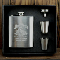 7oz Portable Stainless Steel Flagon Wine Bottle Gift Box Pocket Flask