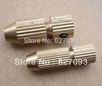 2pcs mini Alloys Copper Drill Chuck Twist Drill Bits DIY Metal Hand Drill Chuck 2.3mm motor Shaft For 1.6--2.5mm 0.5--1.5mm