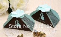 "free shipping 50pcs/lot Hot-Selling Wedding Gift Box Creative Candy Boxes With ""Wedding Day""Words Event & Party Must-have"